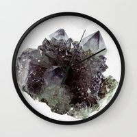 mineral Wall Clocks featuring Mineral by .eg.