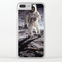 Apollo 11 - Buzz Aldrin On The Moon Clear iPhone Case