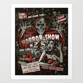 The Horror Show Art Print
