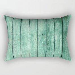 green wooden fence Rectangular Pillow
