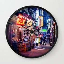 Shinjuku alley Wall Clock