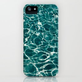 SEA - blue , white ocean , waves , clear , clarity iPhone Case