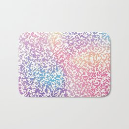 Abstract lavender pink ombre modern pattern Bath Mat