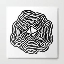 The d8 Metal Print
