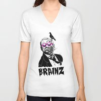 political V-neck T-shirts featuring political zombie theme by Krzysztof Kaluszka