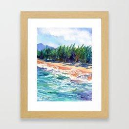 Kauai North Shore Beach 2 Framed Art Print