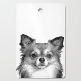 Black and White Chihuahua Cutting Board