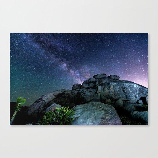 Milky Way Rock Canvas Print
