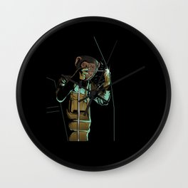 Welder Funny Mongkey Happy Wall Clock