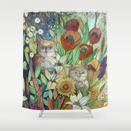 Returning Home to Roost Shower Curtain