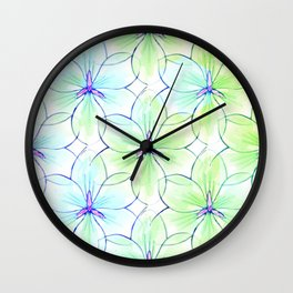 Flower Sketch 7 Wall Clock