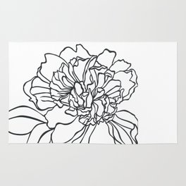 Paper-cut Peony Rug