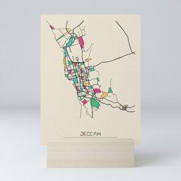 Colorful City Maps: Jeddah, Saudi Arabia Mini Art Print