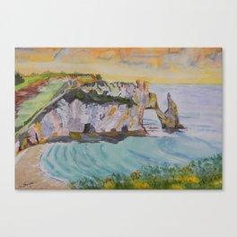 Normandy Beach at Etretat Canvas Print