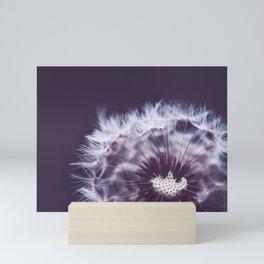 Violet Dandelion Mini Art Print