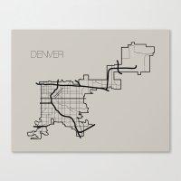 denver Canvas Prints featuring Denver by linnydrez