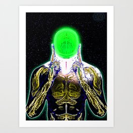 MIND #4 Concentrating Meditation Psychedelic Ethereal Character Art Print