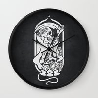 tarot Wall Clocks featuring Death Tarot by imadamspivak