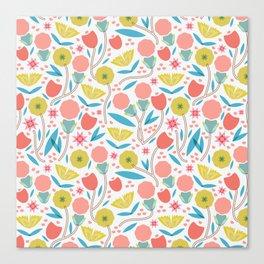 Geometric Floral Pattern Canvas Print