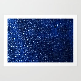 Colorful abstract wallpaper, waterdrops over multicolor background Art Print