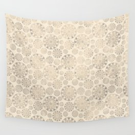 Ceramic tile pattern - Beige shabby - old Wall Tapestry