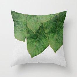Banana Leaf III Throw Pillow