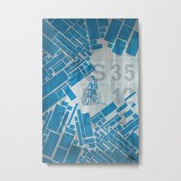 BlueBike Metal Print