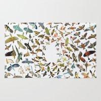 birds Area & Throw Rugs featuring Birds by Ben Giles