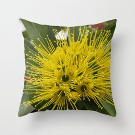 Little Golden Penda Throw Pillow