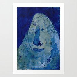 Rockface Art Print