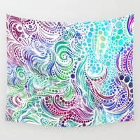under the sea Wall Tapestries featuring Under the Sea by Doodle Design