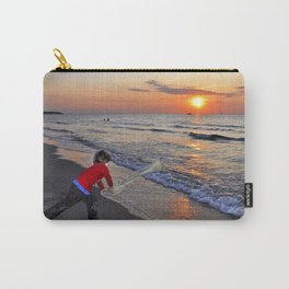 LITTLE DEVIL ON THE SUNSET-BEACH Carry-All Pouch
