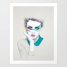 War Paint Sally Art Print