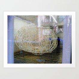 actual maze located inside Art Print
