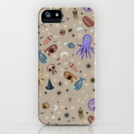 Dreams & Nightmares (on Khaki Beige Background)  iPhone Case