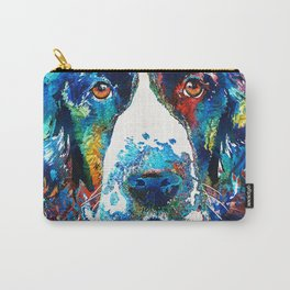 Colorful English Springer Spaniel Dog by Sharon Cummings Carry-All Pouch