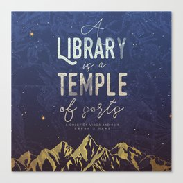 Library Temple Canvas Print