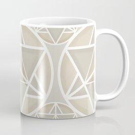 Merkaba sacred geometry pattern in neutral Coffee Mug
