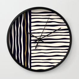 Zebra style animal print pattern Wall Clock