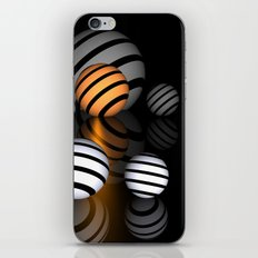 reflections and spheres -3- iPhone & iPod Skin