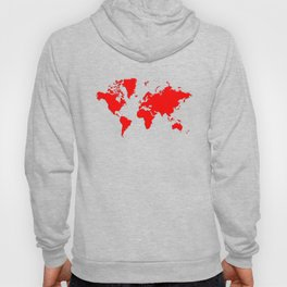 World with no Borders - true red Hoody