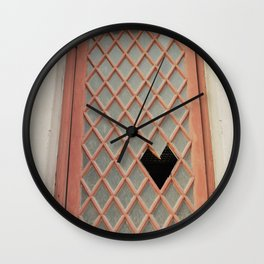 Broken [heart] Window Wall Clock
