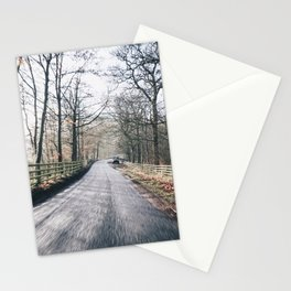 winter lanes in egland Stationery Cards