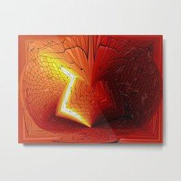 Between Light and Dark - HS Series Metal Print