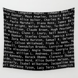 African American Literary Rebels Wall Tapestry