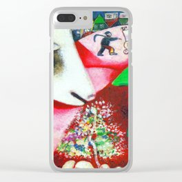 Marc Chagall Me and the Village Clear iPhone Case