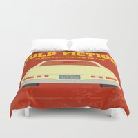 pulp fiction Duvet Covers featuring Pulp Fiction- Oh man! by Robin LD
