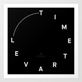 Timetravel Wall Clock Art Print