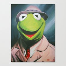 Frog Reporter Canvas Print