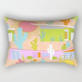 Midcentury Modern Desert Neighborhood Rectangular Pillow